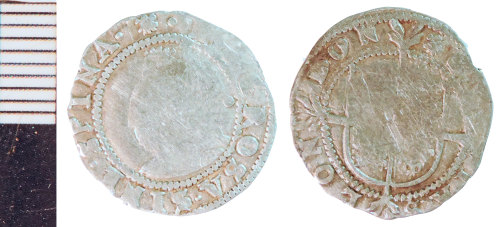NLM-7F47FD: Post-Medieval Coin: Halfgroat of Elizabeth I