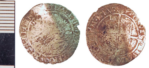NLM-7F7EAE: Post-Medieval Coin: probably a Threepence of Elizabeth I