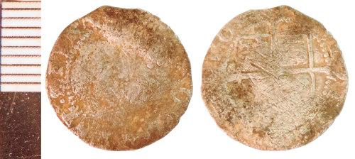 NLM-947D55: Post-Medieval Coin: Halfgroat of Elizabeth I