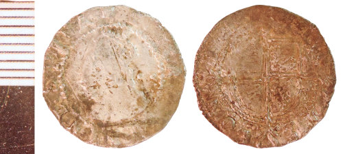 NLM-948CD3: Post-Medieval Coin: Halfgroat of Elizabeth I
