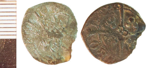 NLM-F8A224: Medieval Coin: Penny of Henry V