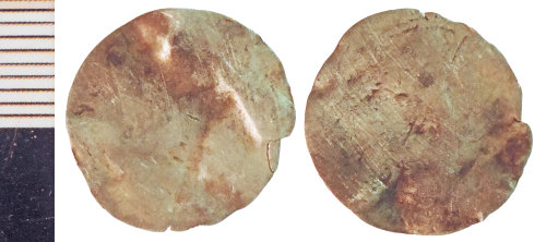 NLM-F8C9FA: Medieval Coin of an indeterminate ruler
