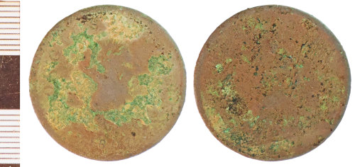 NLM-0E61D8: Post-Medieval Coin: Halfpenny of George III