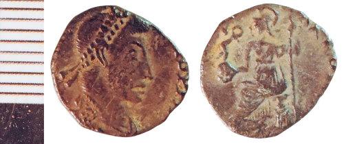 NLM-A1ABA9: Roman Coin: Siliqua, possibly of Gratian