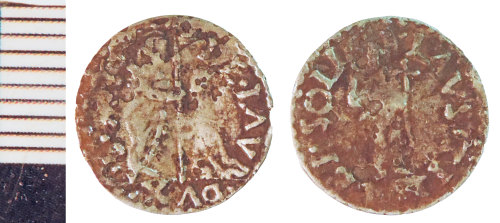 NLM-A2E4F5: Post-Medieval Coin: Venetian Soldino of Doge Leonardo Loredan