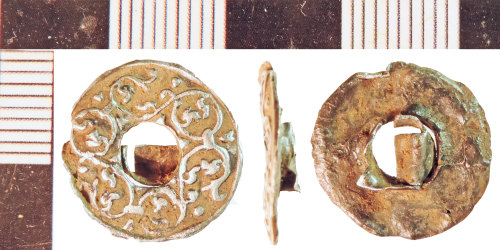 NLM-A41D1B: Post-Medieval Cuff Link fragment