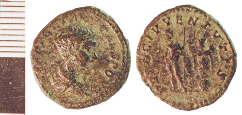 NLM-A428B7: Roman Coin: Denarius of Geta