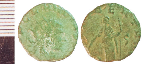 NLM-33FE09: Roman Coin: Radiate of Laelian