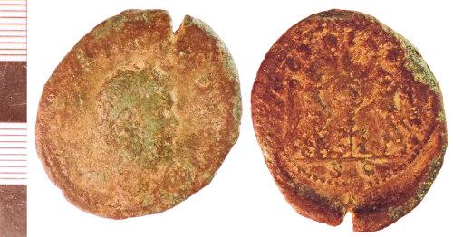 NLM-397E80: Roman Coin: Sestertius of Postumus