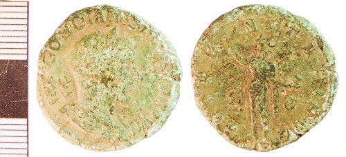 NLM-4E454B: Roman Coin: As or Sestertius of Gordian I