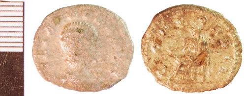 NLM-4EB2A5: Roman Coin: Denarius of Julia Paula found by Paul and Julie