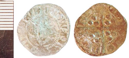 NLM-A19B53: Medieval Coin: Penny of Edward I