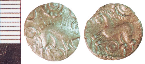 NLM-A22619: Iron Age Coin: Uninscribed Silver Half Unit of the Corieltauvi