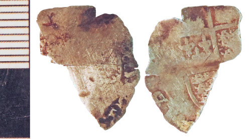 NLM-CD60FB: Post-Medieval Coin fragment: Groat of Mary