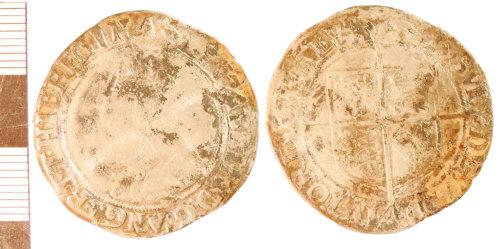 NLM-CD7AD2: Post-Medieval Coin: Shilling of Elizabeth I