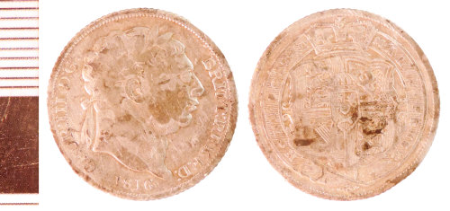NLM-E14DDE: Post-Medieval Coin: Sixpence of George III