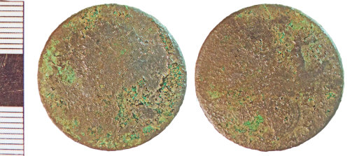 NLM-4D363A: Post-Medieval Coin: Halfpenny of George II