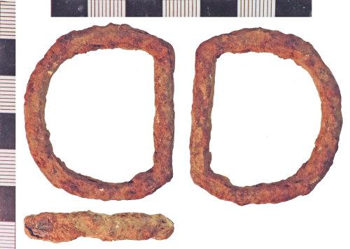 NLM-74C2EE: Post-Medieval Iron Buckle