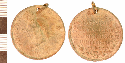 NLM-74D52C: Post-Medieval Commemorative Medallion