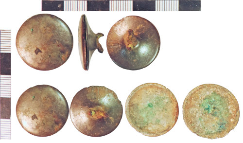 NLM-750047: Post-Medieval Button: assembled and component parts
