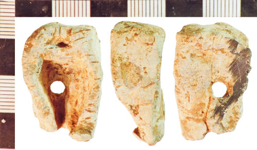 A resized image of Unidentified and Undated Lead Object fragment