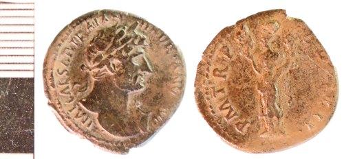 NLM-2F01E3: Roman Coin: Denarius of Hadrian