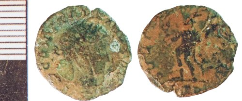 NLM-2F6148: Roman Coin: Nummus of the House of Constantine