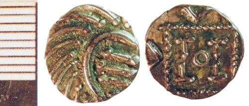NLM-AC9A9C: Early Medieval Coin: Series E Sceat