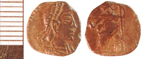 NLM-ACBCBC: Roman Coin: Siliqua, probably of the House of Valentinian