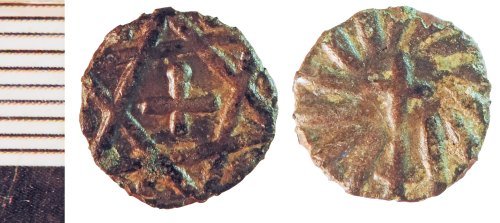 NLM-AD2B25: Early Medieval Coin: Series H Sceat