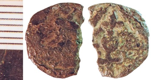 NLM-B0A422: Early Medieval Coin: Sceat, possibly of Series B