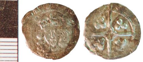 NLM-436C8E: Medieval Coin: Penny of Edward IV