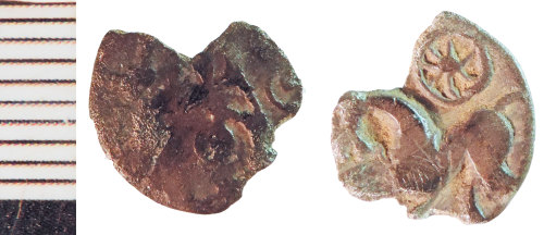 NLM-685DFB: Iron Age Coin fragment: Uninscribed Silver Unit of the Corieltauvi