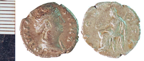 NLM-5509A5: Roman Coin: Denarius of Faustina I