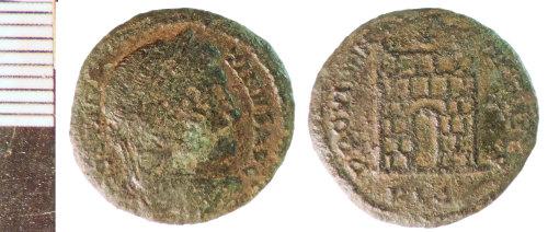 NLM-562B9A: Roman Coin: Nummus of Constantine I