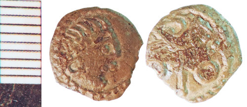 NLM-7D0A1B: Early Medieval Coin: Sceat of class B