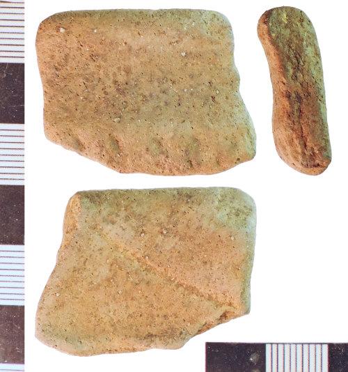 NLM-0D7BE0: Roman Greyware Potsherd