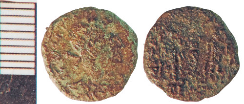 NLM-0D98F3: Roman Coin: Nummus of the House of Constantine