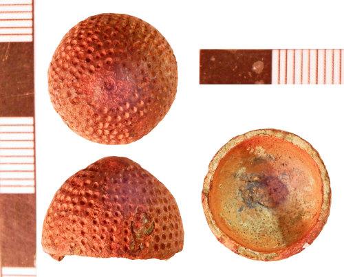 NLM-B37041: Medieval Thimble fragment