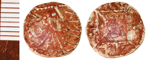 NLM-F39D33: Early Medieval Coin: Sceat of Series R