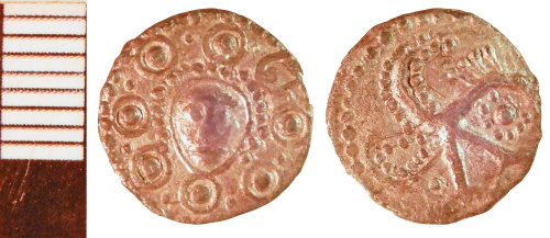 NLM-F3B662: Early Medieval Coin: Sceat of Series H