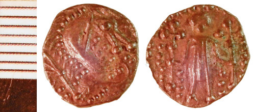 NLM-F3C579: Early Medieval Coin: possibly imitation of Series L