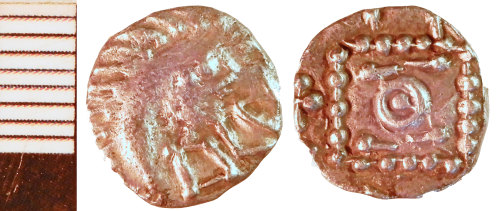 NLM-F3D313: Early Medieval Coin: Sceat of Series E