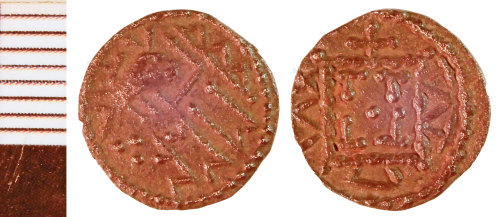 NLM-F3F34D: Early Medieval Coin: Sceat of Series R