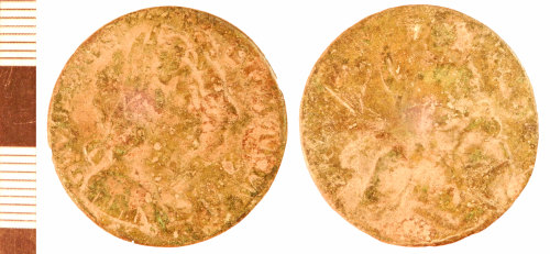 NLM-07104B: Post-Medieval Coin: Halfpenny of William and Mary