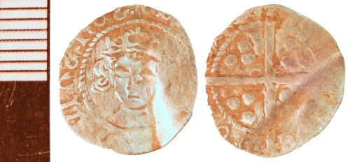 NLM-076139: Medieval Coin: Halfpenny, possibly of Edward IV