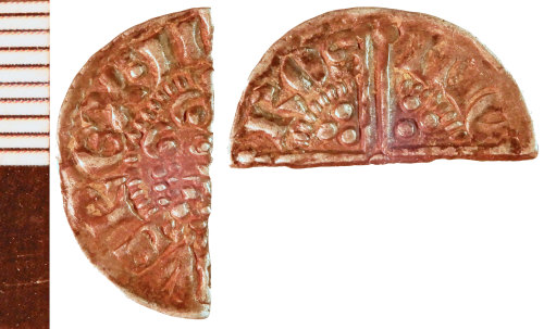 NLM-6E11A5: Medieval Coin: Voided Long Cross Halfpenny of Henry III