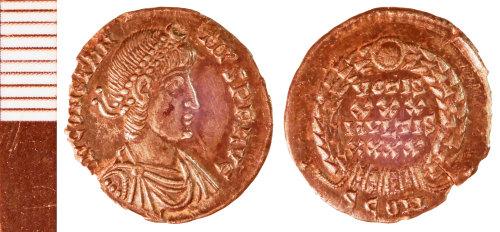 NLM-012D34: Roman Coin: Siliqua of Constantius II