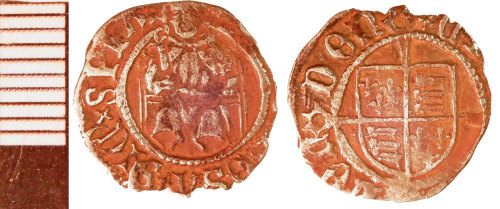 NLM-018E10: Post-Medieval Coin: Penny of Henry VIII