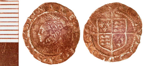 NLM-019C02: Post-Medieval Coin: Penny of Elizabeth I